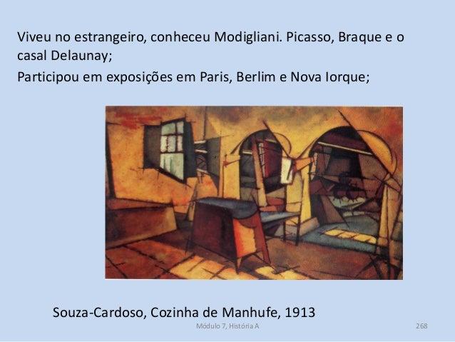 Souza-Cardoso, Cozinha de Manhufe, 1913 Viveu no estrangeiro, conheceu Modigliani. Picasso, Braque e o casal Delaunay; Par...