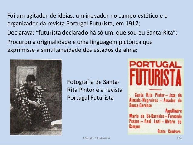 Fotografia de Santa- Rita Pintor e a revista Portugal Futurista Foi um agitador de ideias, um inovador no campo estético e...
