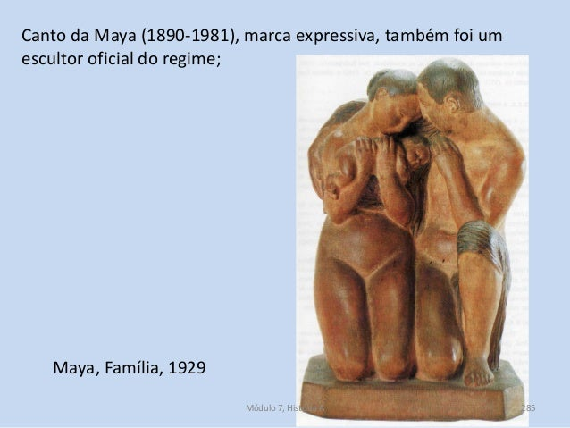 Maya, Família, 1929 Canto da Maya (1890-1981), marca expressiva, também foi um escultor oficial do regime; Módulo 7, Histó...