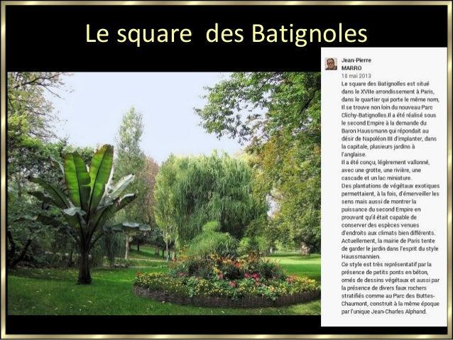 Le square des Batignoles