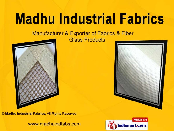 Manufacturer & Exporter of Fabrics & Fiber                          Glass Products <br />
