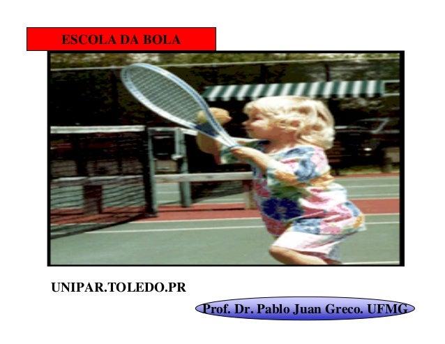 ESCOLA DA BOLAUNIPAR.TOLEDO.PR                   Prof. Dr. Pablo Juan Greco. UFMG