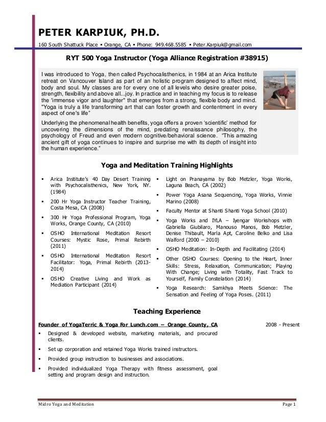 midro yoga and meditation page 1 peter karpiuk ph