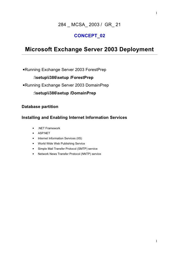 1                            284 _ MCSA_ 2003 / GR_ 21                                       CONCEPT_02   Microsoft Exchan...