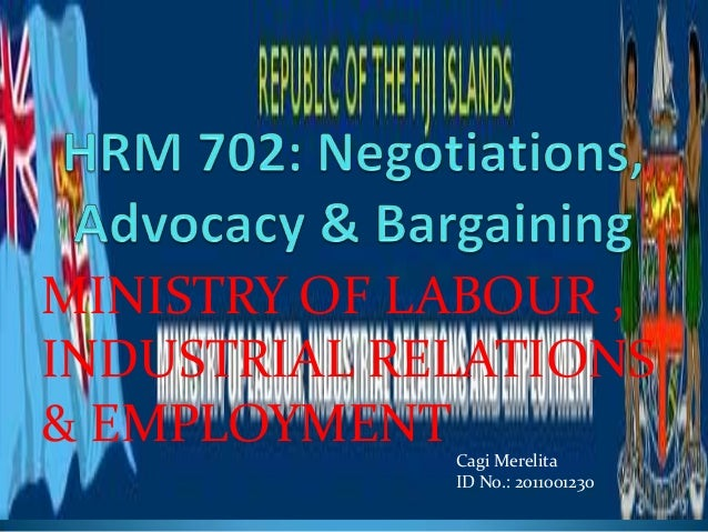 MINISTRY OF LABOUR ,INDUSTRIAL RELATIONS& EMPLOYMENT Cagi Merelita             ID No.: 2011001230