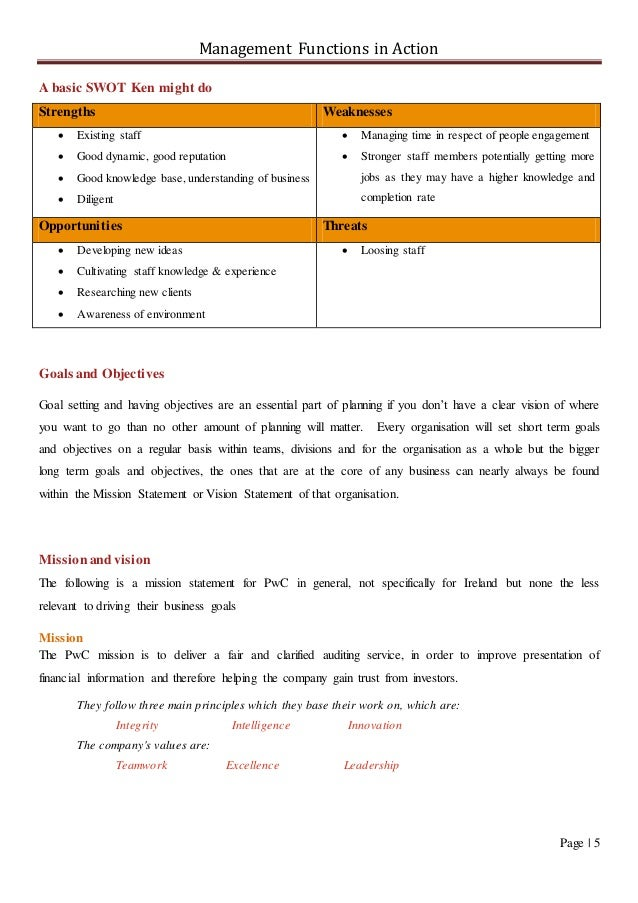 Management Report on PwC - Final