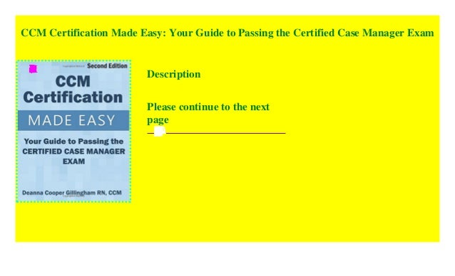 ccm certified certification passing manager exam