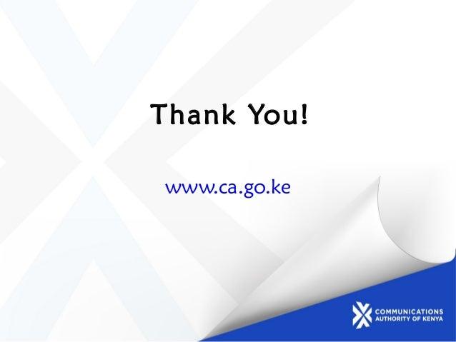 Thank You! www.ca.go.ke