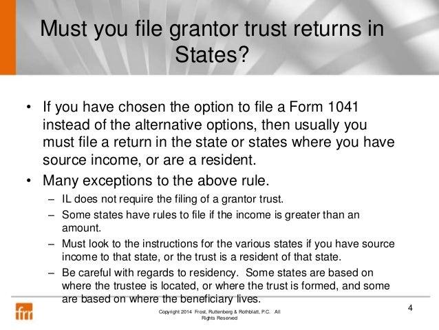 trust tax return instructions 2014
