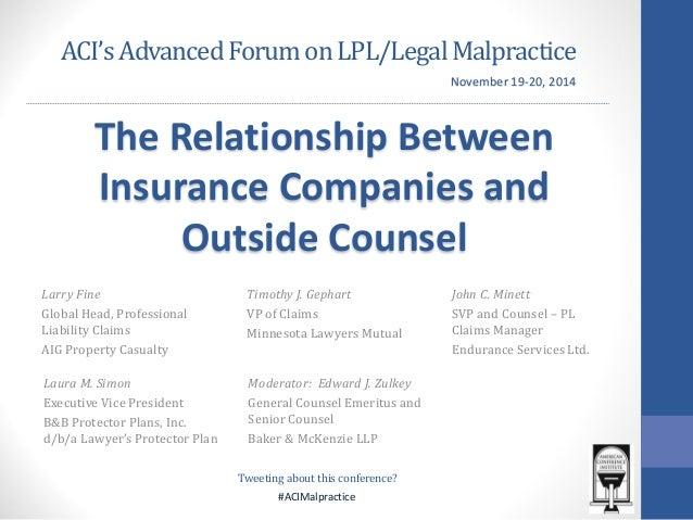 #ACIMalpractice  ACI's Advanced Forum on LPL/Legal Malpractice  Larry Fine  Global Head, Professional Liability Claims  AI...
