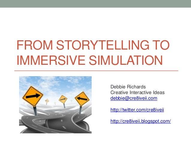 Debbie Richards Creative Interactive Ideas debbie@cre8iveii.com http://twitter.com/cre8iveii http://cre8iveii.blogspot.com...