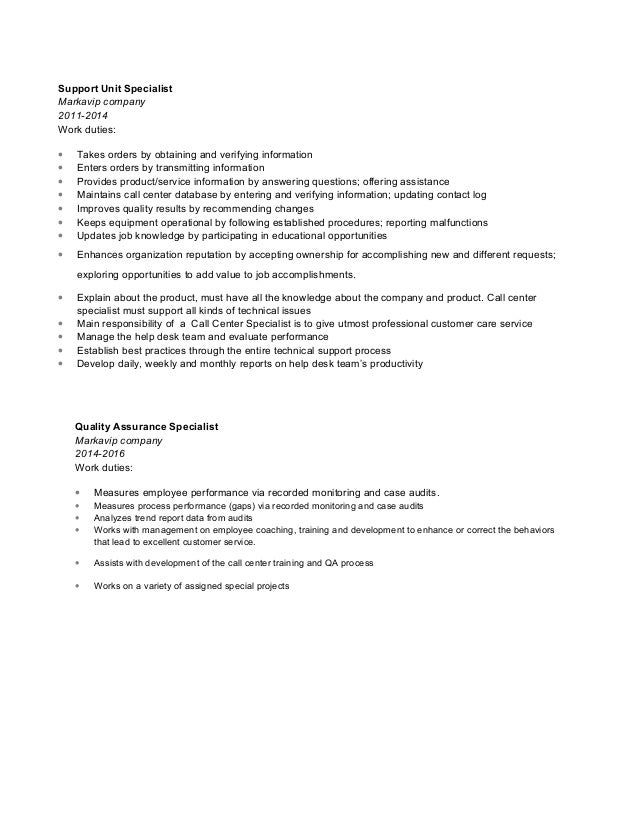 technical support job description pdf technical support job description call center - Call Center Duties