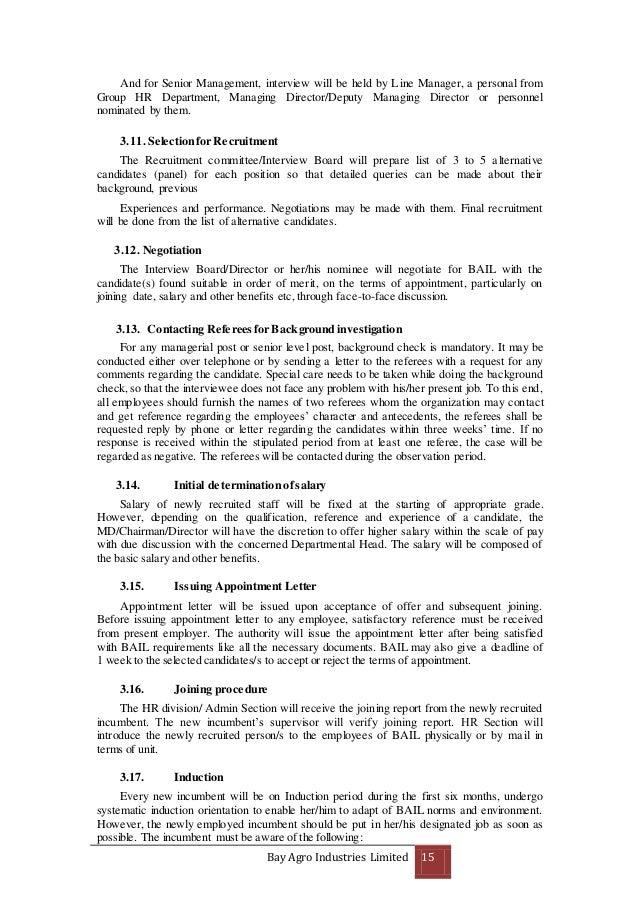 human resource manual of bay agro for bracu internship rh slideshare net Human Resource Orientation Questionnaire Human Resources Design