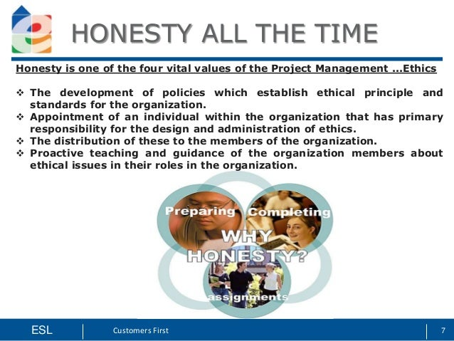 project management ethical issues Project managers must have the discipline to create clear, ethical and  given  that ethical problems and solutions may change with community expectations.