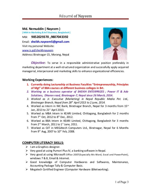 resume-of-sheikh-nayeem-for-co-1-638 Template Cover Letter Ema C Ea A Fd F E Gzajvx on