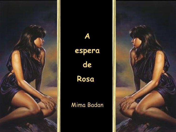 A espera de Rosa  Mima Badan