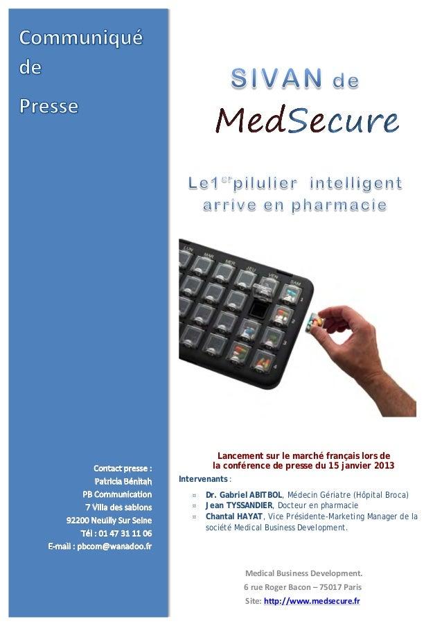 Medical  Business  Development. 6  rue  Roger  Bacon  –  75017  Paris Site:  h...