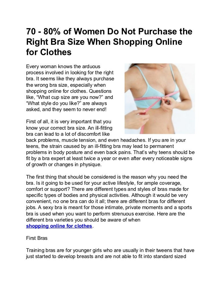 0b88c71ee0e 70 - 80% of Women Do Not Purchase the Right Bra Size When Shopping Online  for Clothes