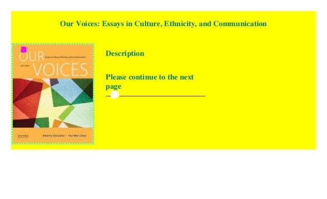 Communication culture essay ethnicity in our voice fx dealer sample resume