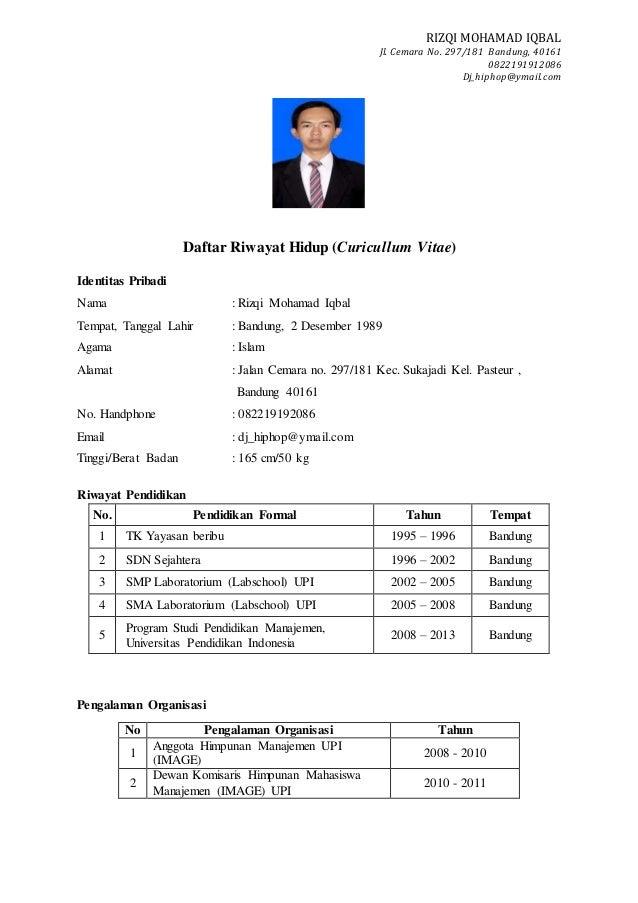 Surat lamaran jobfair hormat saya rizqi mohamad iqbal 2 thecheapjerseys Images