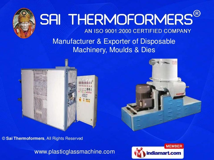 Manufacturer & Exporter of Disposable Machinery, Moulds & Dies<br />