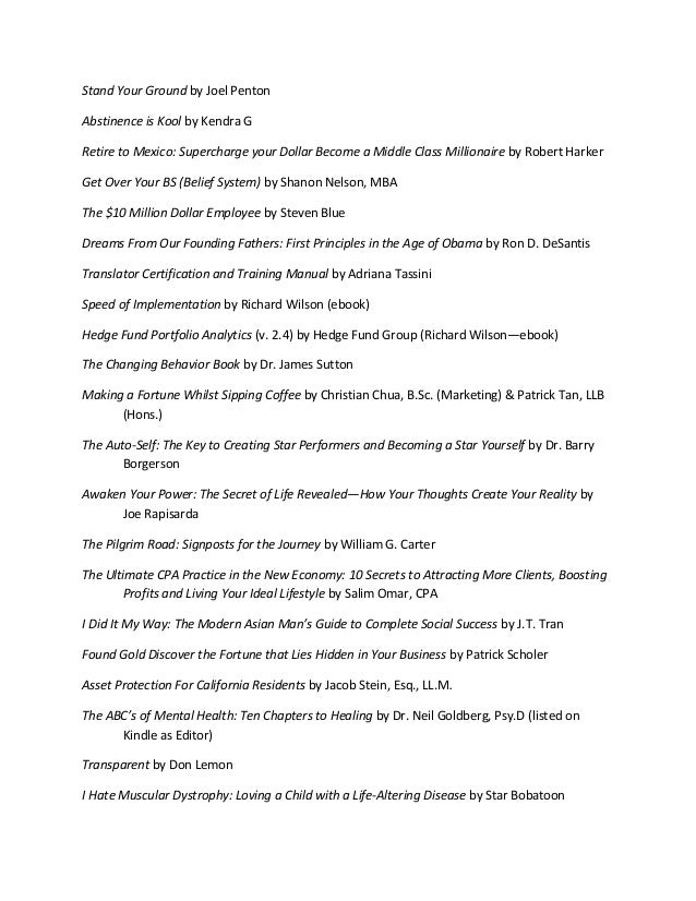 List Of Published Books Edited By Mjc