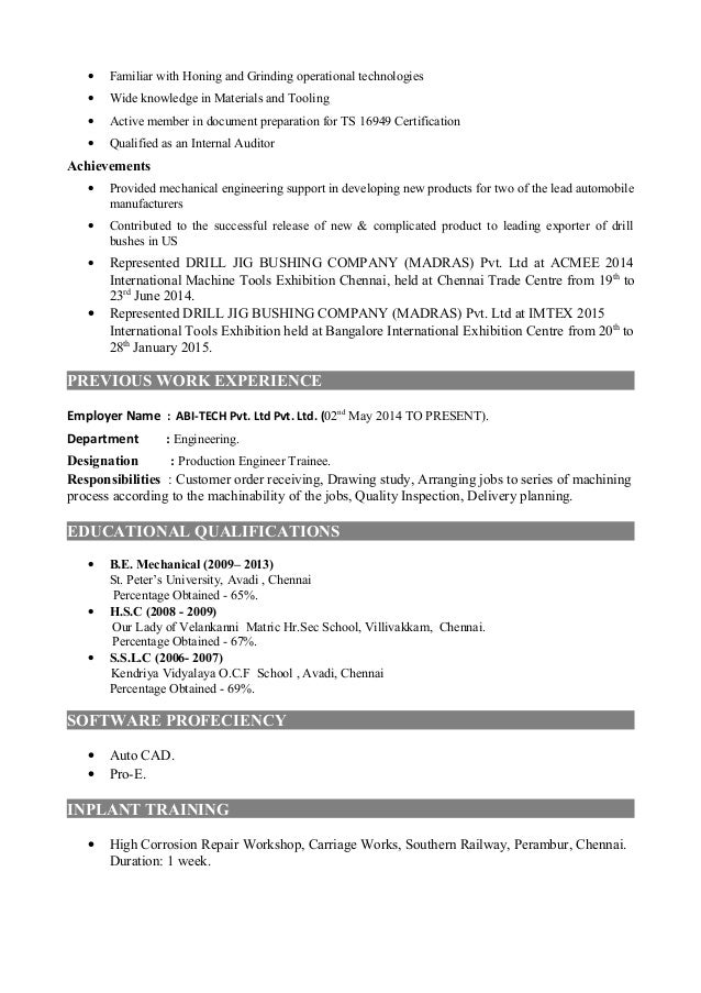professional resume with image
