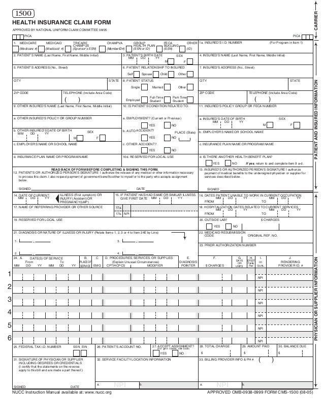 medicare 2 way claim form pdf