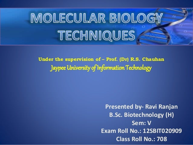 Under the supervision of – Prof. (Dr) R.S. Chauhan Jaypee University of Information Technology Presented by- Ravi Ranjan B...