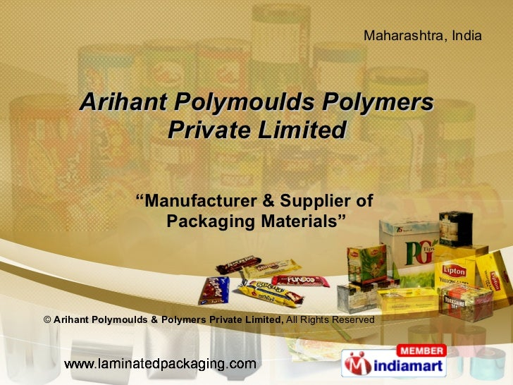"Arihant Polymoulds Polymers Private Limited "" Manufacturer & Supplier of  Packaging Materials"" ©  Arihant Polymoulds & Pol..."