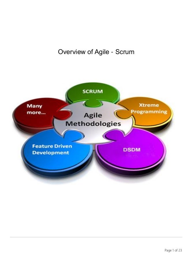 Page 1 of 23 Overview of Agile - Scrum