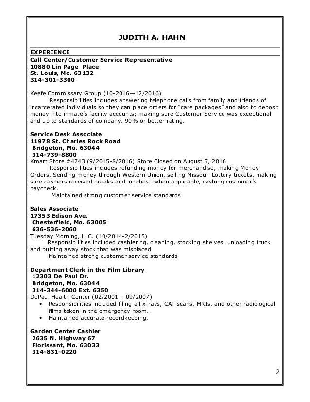 Judith A  Hahn Resume (1)