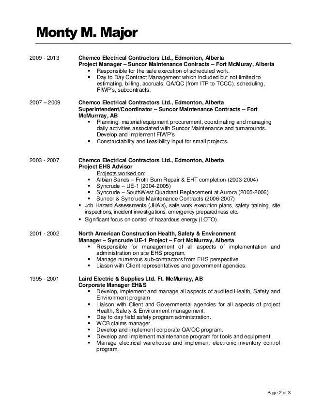 14-11-20 Monty Major Resume
