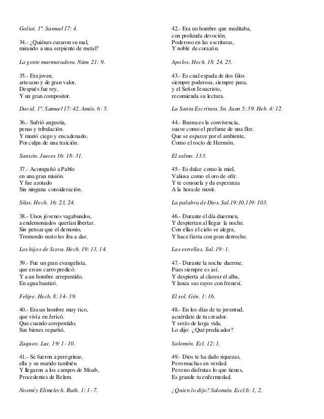 70 Adivinanzas Biblicas Para Sociedad De Jovenes