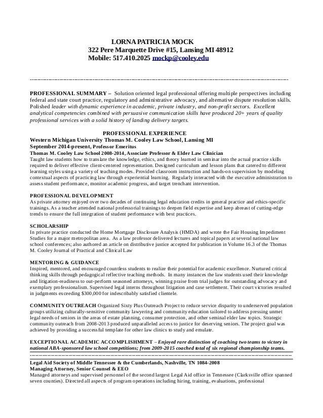 Higher Education Resume November 14 2015