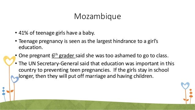 Social/Academic Results from Teen Pregnancy • Feeling embarrassed or awkward at school • Fear of telling parents or being ...