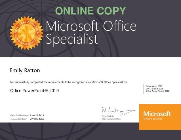 Microsoft Powerpoint Certification