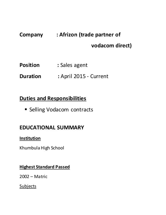 newest updated cv of mzweja n call centre - Call Center Duties