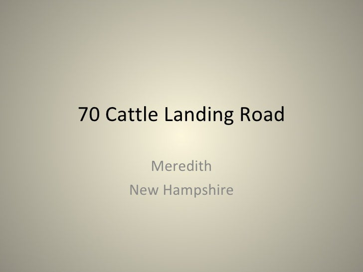 70 Cattle Landing Road Meredith New Hampshire