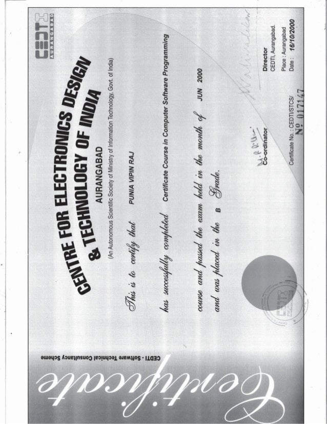 Computer Software Programming Certificate