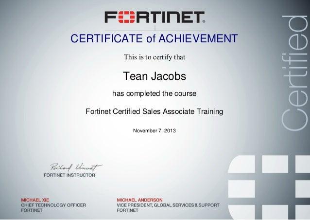FCSA - Fortinet Certified Sales Associate