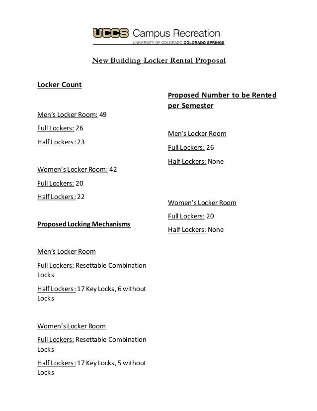 rental proposal Locker Rental Proposal Finished