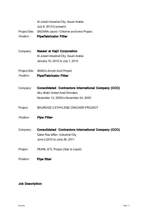 resume of resfer 14