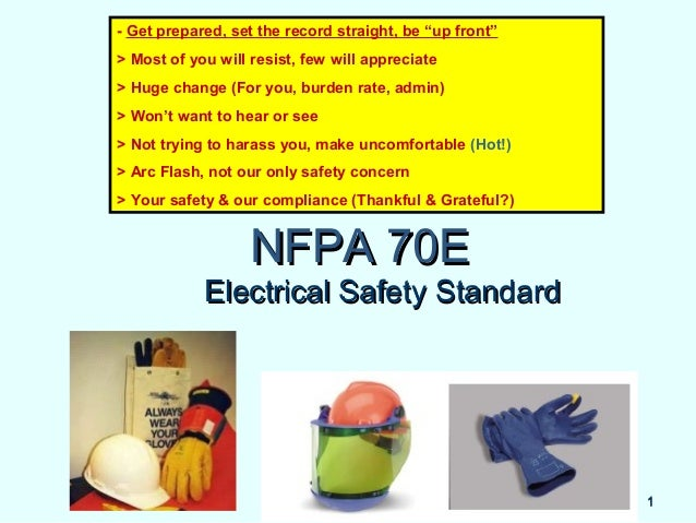 nfpa 70e 2012 powerpoint presentation