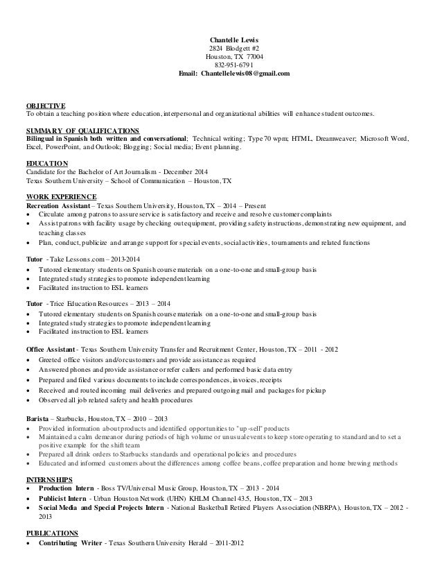 Excellent Resume Classes Houston Gallery - Example Resume Templates ...