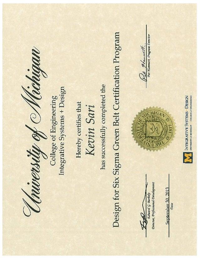 Fancy Six Sigma Certification Michigan Gallery Online Birth