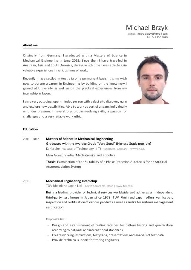 michael brzyk resume 2016