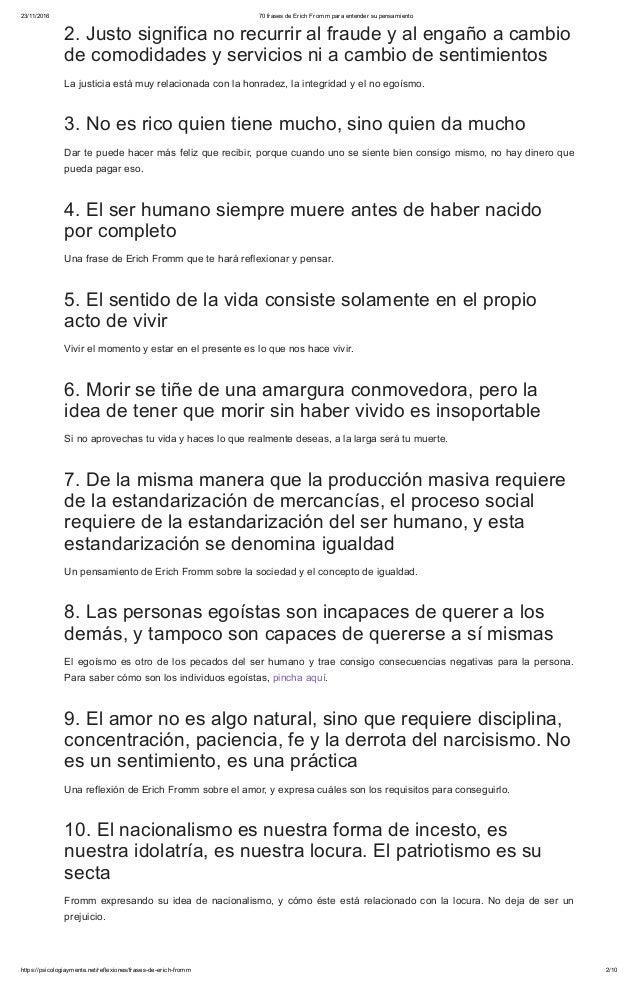 70 Frases De Erich Fromm Para Entender Su Pensamiento