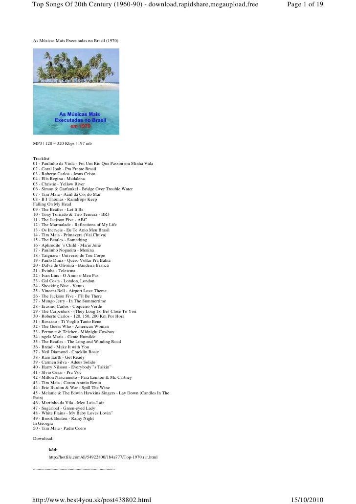 70's   80's - 90's - as músicas mais executadas no brasil - 1970 á 1990