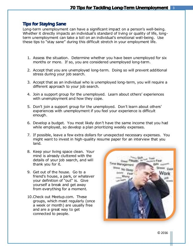 Resume ... 4. 370 Tips For Tackling Long Term Unemployment ...